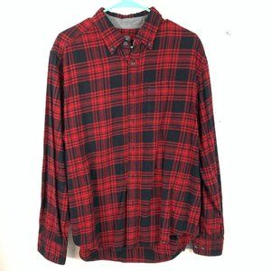 Eddie Bauer Mens L Buffalo Plaid Flannel Shirt